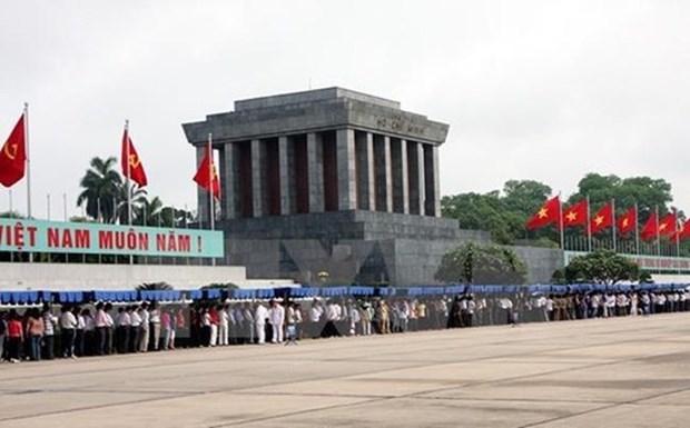 Посещение мавзолея Хо Ши Мина приостановлено из-за эпидемии COVID-19 hinh anh 1