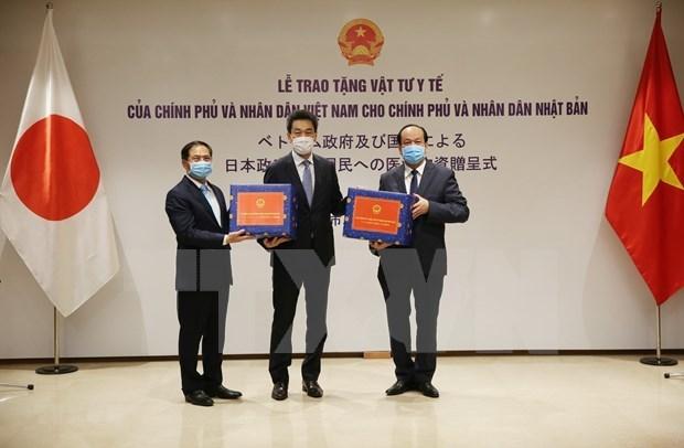 Вьетнам подарил медикаменты антивирусного назначения Японии и России hinh anh 2