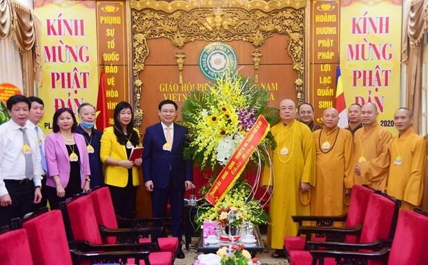 Власти Ханоя поздравили буддистов с днем рождения Будды hinh anh 1