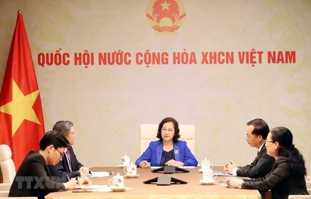 Лидеры Национального собрания Вьетнама и Лаоса провели телефонные переговоры hinh anh 1