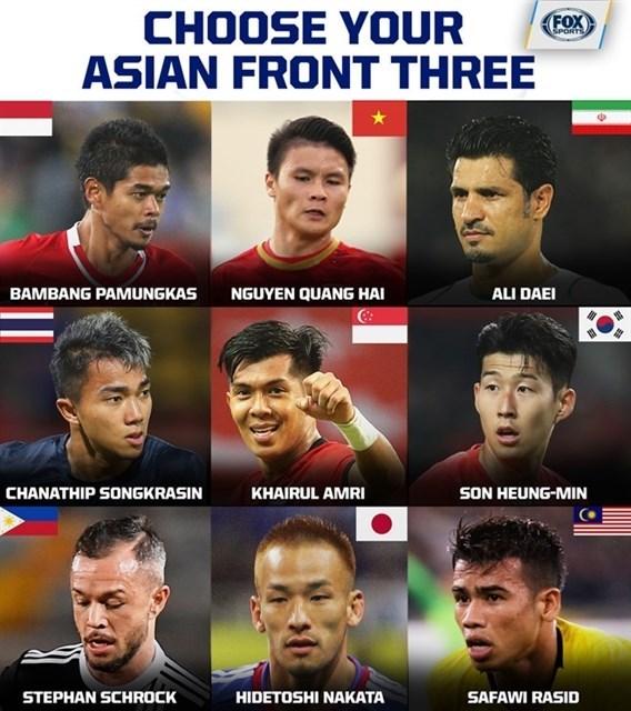 Fox Sports Asia назвал вьетнамского игрока одним из претендентов на звание одного из трех лучших нападающих Азии hinh anh 1