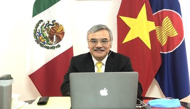 АСЕАН и Мексика обменились опытом в работе по профилактике и борьбе с COVID-19 hinh anh 1