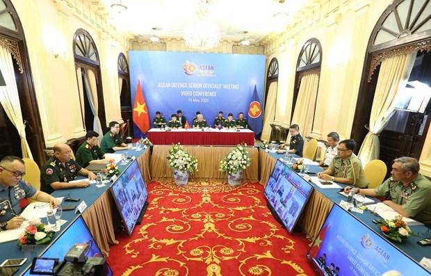 Высокопоставленные военные чиновники АСЕАН обсудили сотрудничество на онлаин-встрече hinh anh 1