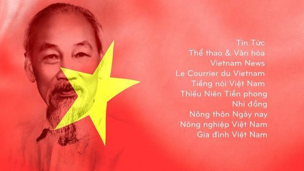 Необычная акция в честь дня рождения дяди Хо в 10 печатных газетах hinh anh 1