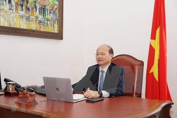Вьетнам принимает участие в телеконференции Совета управляющих МАГАТЭ hinh anh 1