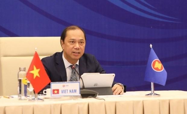 АСЕАН и китаиские высокопоставленные чиновники встречаются онлаин hinh anh 1