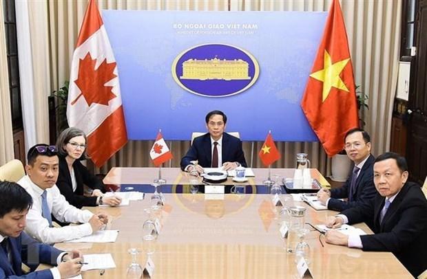 Вьетнам и Канада провели политические консультации на уровне министров иностранных дел hinh anh 1