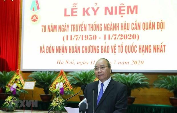 Премьер-министр принял участие в праздновании Дня военнои логистики hinh anh 1