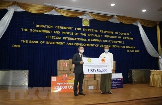 Вьетнам поддерживает Мьянму в борьбе COVID-19 hinh anh 1