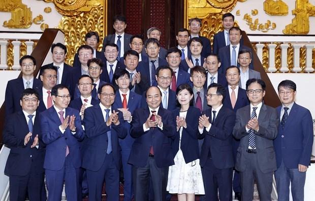 Премьер-министр принимает инвесторов РК во Вьетнаме hinh anh 1