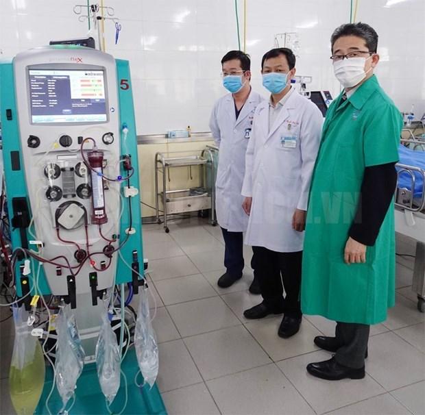 JICA поставило оборудование для лечения COVID-19 в больницу Чораи hinh anh 1