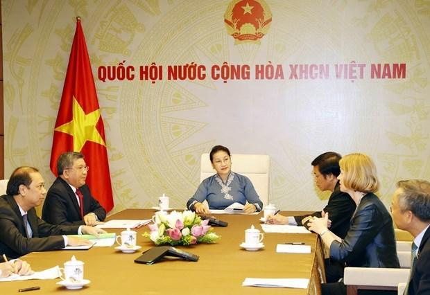 Ведущие законодатели Вьетнама и Новои Зеландии проводят онлаин-переговоры hinh anh 1