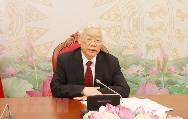 Генсек КПВ и президент Вьетнама призывает к тщательнои подготовке к XIII всевьетнамскому съезду КПВ hinh anh 1