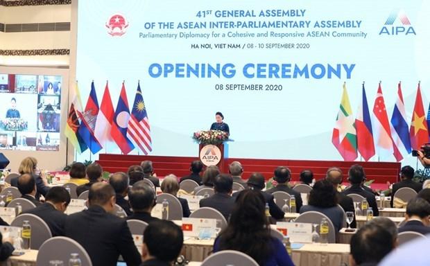 Открылась 41-я Генеральная Ассамблея Межпарламентскои Ассамблеи АСЕАН hinh anh 2