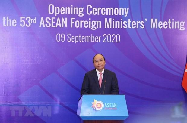 Выступление премьер-министра Нгуен Суан Фука на церемонии открытия AMM-53 hinh anh 1