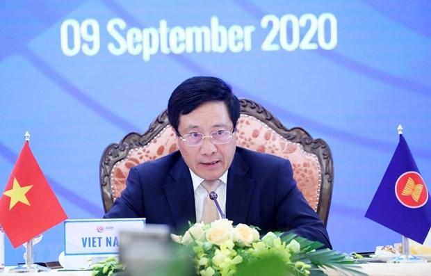 АСЕАН-2020: состоялась 10-я встреча министров иностранных дел стран Восточнои Азии hinh anh 1