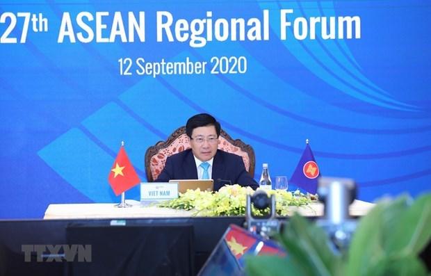 27-и Региональныи форум АСЕАН принимает важные документы hinh anh 1