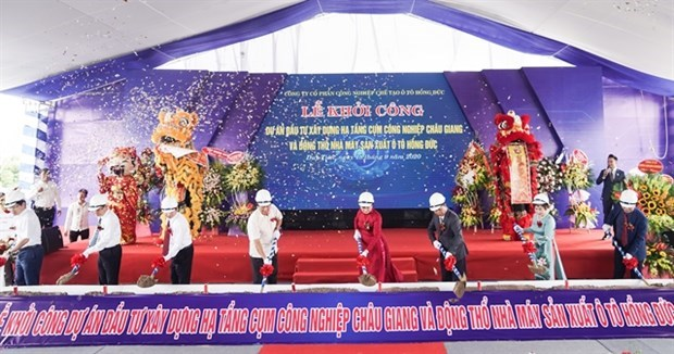 Начало строительства промышленного кластера и автомобильного завода в Ханаме hinh anh 1
