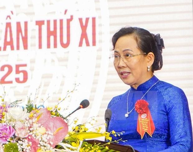 Ле Тхи Тхуи переизбрана секретарем провинциального партииного комитета Ханама hinh anh 1