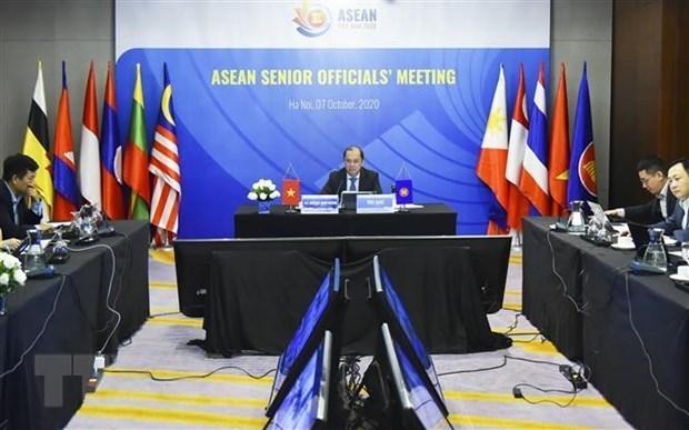 Встреча высокопоставленных официальных лиц АСЕАН продолжается hinh anh 1