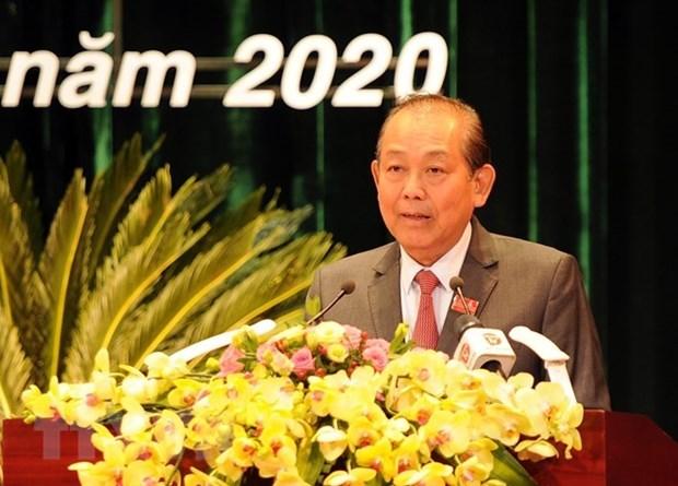 Заместитель премьер-министра принял участие в 22-ои конференции партиинои организации Дананга hinh anh 1