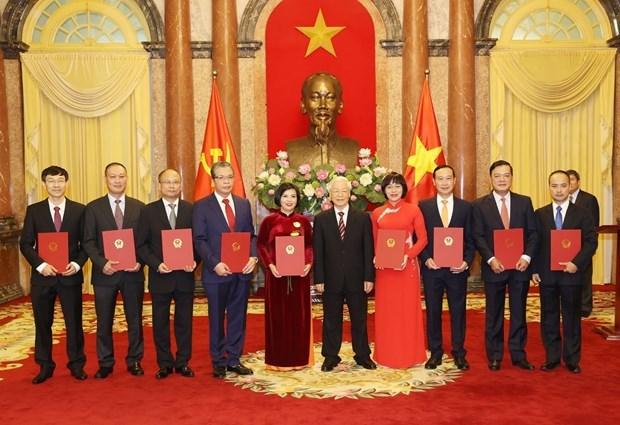 Президент Нгуен Фу Чонг вручил решения о назначении новым послам hinh anh 1