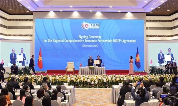 Соглашение о всеобъемлющем региональном экономическом партнерстве было подписано после многолетних переговоров hinh anh 1