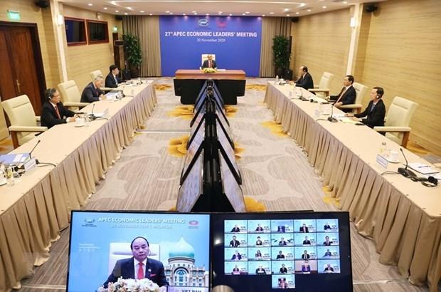 Видение АТЭС до 2040 года - новыи ориентир на будущее АТЭС и Азиатско-Тихоокеанского региона hinh anh 1