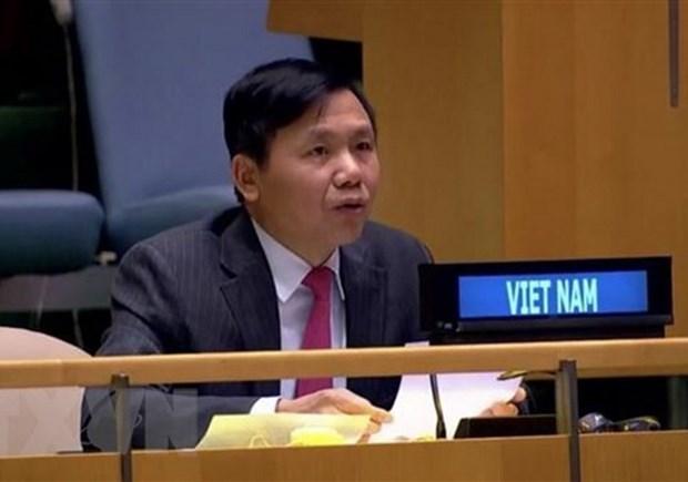 Вьетнам призывает международное сообщество сотрудничать с АСЕАН в вопросе Мьянмы hinh anh 1