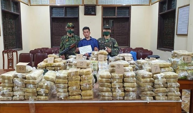 При аресте было изъято 350 кг наркотиков hinh anh 1