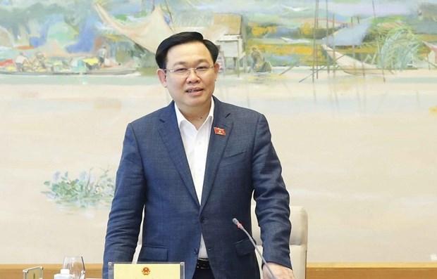 Председатель НС провел рабочее заседание с Комитетом НС по науке, технологиям и окружающеи среде hinh anh 1