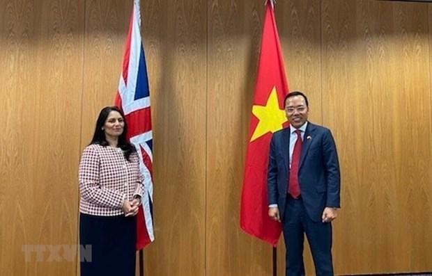 Вьетнам и Великобритания наращивают сотрудничество в сфере безопасности и внутренних дел hinh anh 1