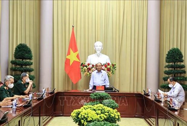 Президент Нгуен Суан Фук: важно воздавать благодарность павшим за свободу hinh anh 1