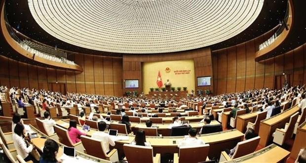 Первая сессия 15-го Национального собрания: представлены важные отчеты hinh anh 1