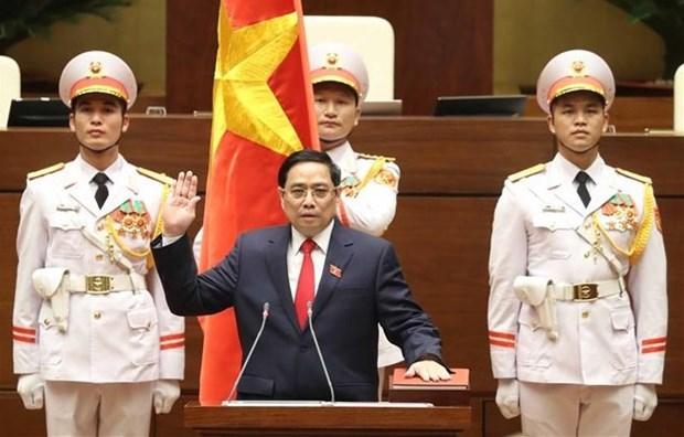 Национальное собрание Вьетнама избрало г-на Фам Минь Тьиня премьер-министром hinh anh 1