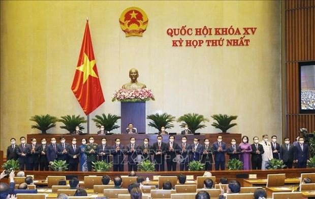 Первая сессия, 15-е Национальное собрание: Утверждены министры и другие члены правительства hinh anh 1