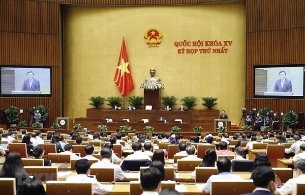 Последнии рабочии день первои сессии Национального собрания 15-го созыва hinh anh 1