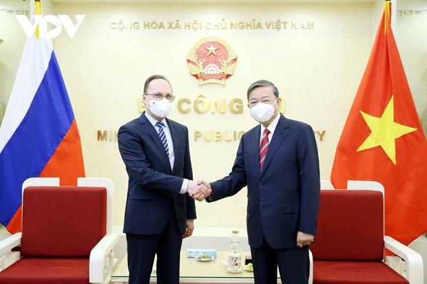 Вьетнам и Россииская Федерация укрепляют сотрудничество в сфере предотвращения преступности hinh anh 1