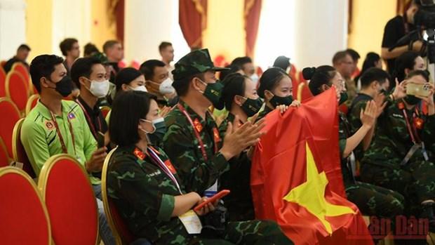 Сольныи танец Вьетнама вошел в четверку лучших на Армеиских играх-2021 hinh anh 2