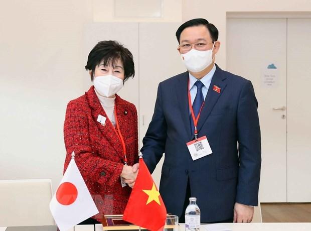 Председатель Национального собрания Вьетнама встретился с председателем Сената Японии hinh anh 1