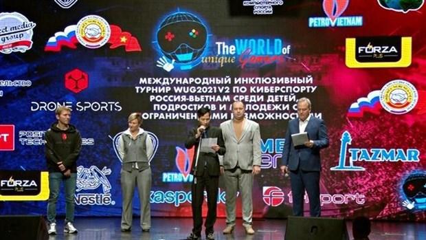 Международныи инклюзивныи турнир 2021-го года по киберспорту Россия-Вьетнам hinh anh 1