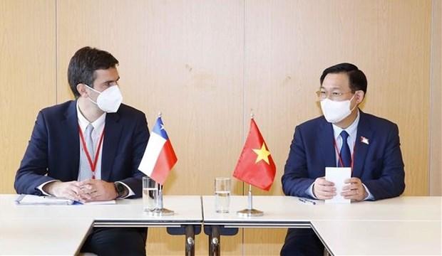 Председатель Национального собрания Выонг Динь Хюэ совершил высокопоставленные встречи в кулуарах WCSP5 hinh anh 1