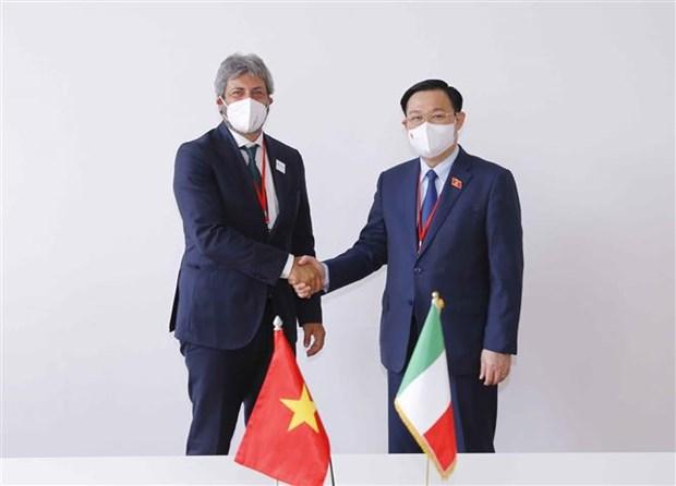 Председатель Национального собрания Выонг Динь Хюэ совершил высокопоставленные встречи в кулуарах WCSP5 hinh anh 3