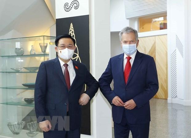 Председатель НС Выонг Динь Хюэ встретился с президентом Финляндии hinh anh 1