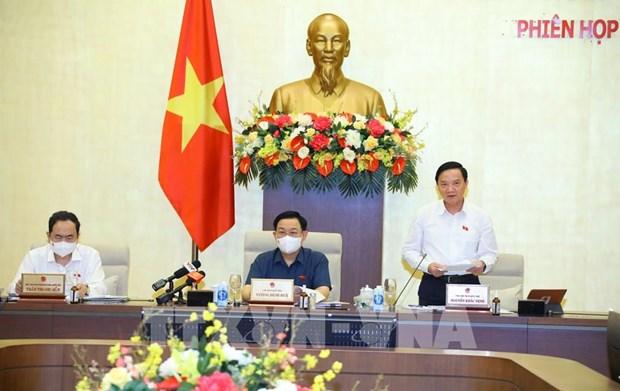 Третье заседание Постоянного комитета Национального собрания: строго контролировать выпуск подробных постановлении hinh anh 1