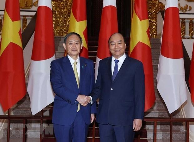 Президент Нгуен Суан Фук проведет телефонные переговоры с премьер-министром Японии hinh anh 1