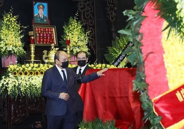 Государственные похороны бывшего министра обороны Фунг Куанг Тханя hinh anh 2