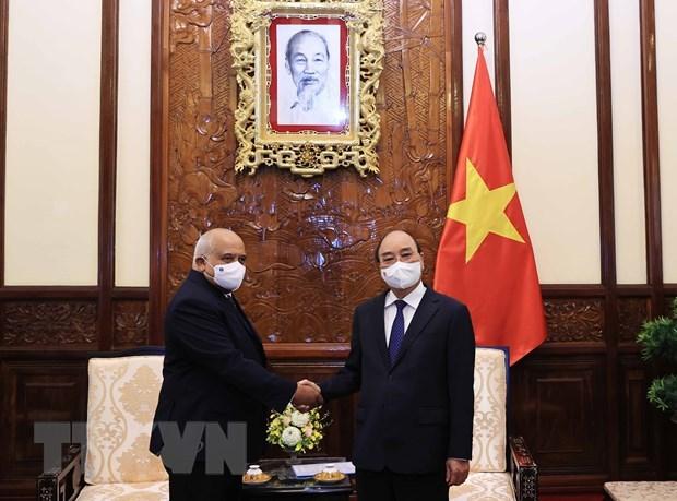 Визит главы государства продолжает отношения солидарности между Вьетнамом и Кубои hinh anh 3
