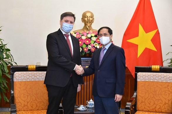 Министр иностранных дел Буи Тхань Шон принял посла Республики Польша во Вьетнаме hinh anh 1