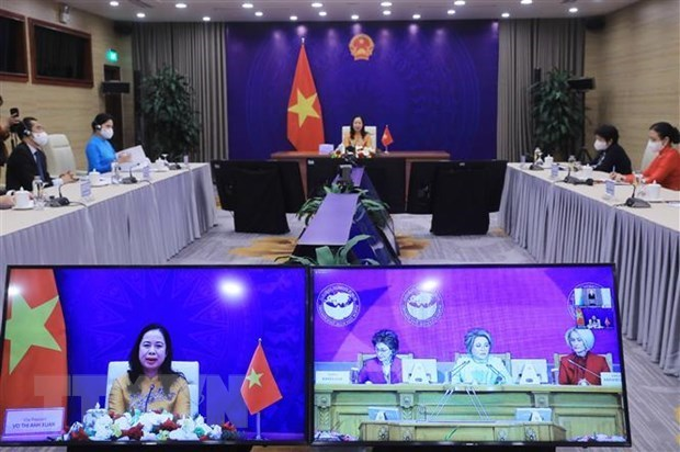 Вице-президент страны Во Тхи Ань Суан принимает участие в третьем Евразииском женском форуме hinh anh 1